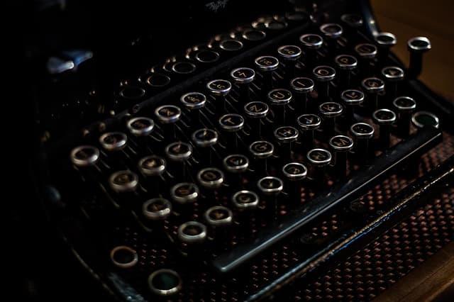 タイプライターのイメージ画像