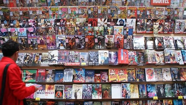 本屋さんのコミックコーナー