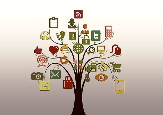 ネットワークを木で表現した画像